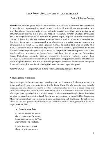 a ficção da língua na literatura brasileira - fflch