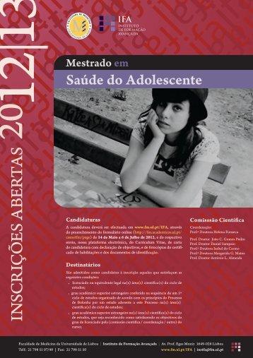 CARTAZ SAdol - Faculdade de Medicina da Universidade de Lisboa