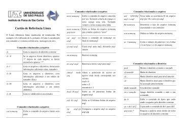 Cartão de Referência Linux - Basalto.if.sc.usp.br
