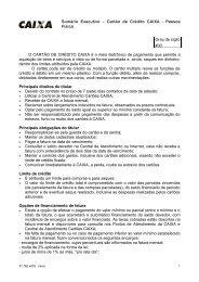 Sumário Executivo – Cartão de Crédito CAIXA - Pessoa Física Grau ...