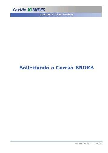 Solicitando o Cartão BNDES - Dentflex