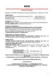 brion - Secretaria da Agricultura e Abastecimento - Estado do Paraná