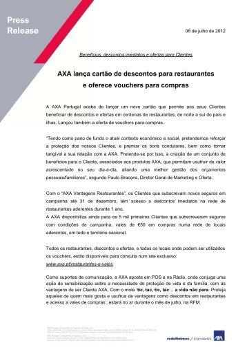 AXA lança cartão de descontos para restaurantes e oferece ...