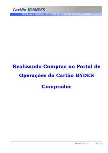 Manual do Comprador - Compras Diretas (PDF) - Cartão BNDES