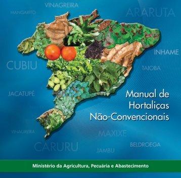 Manual - Hortaliças não-convencionais - Ministério da Agricultura ...