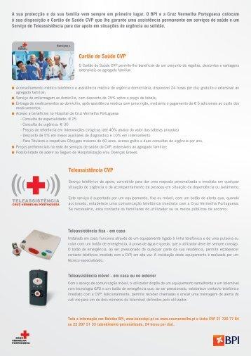 Cartão de Saúde CVP Teleassistência CVP - BPI