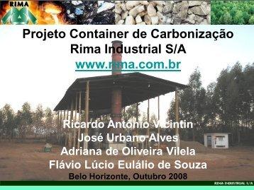 Projeto Container de Carbonização Rima Industrial S/A ... - Sindicarv