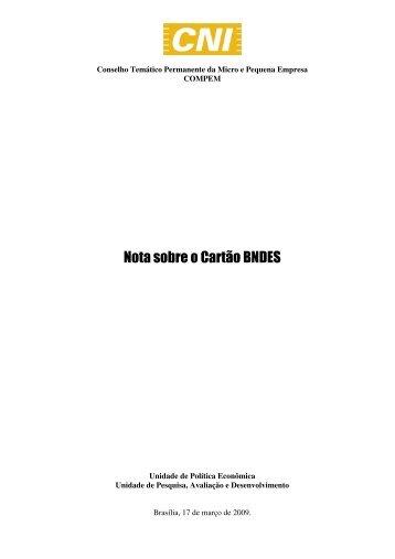 Nota sobre o Cartão BNDES - Fiec