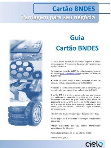 Guia Cartão BNDES Cartão BNDES - Cielo