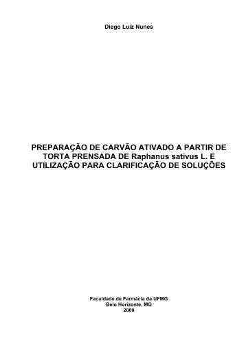 PREPARAÇÃO DE CARVÃO ATIVADO A PARTIR DE TORTA ...