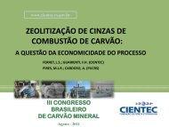 ZEOLITIZAÇÃO DE CINZAS DE COMBUSTÃO DE CARVÃO: - ufrgs