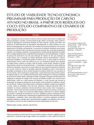 estudo de viabilidade tecno-economica ... - Revista Analytica