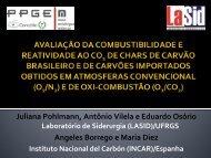 Avaliação da combustibilidade e reatividade ao CO2 de ... - Ufrgs