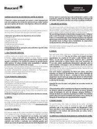 Sumário ExEcutivo do contrato dE cartão dE crédito o ... - Banco Itaú