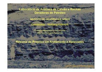 Laboratório de Análises de Carvão e Rochas Geradoras de ... - ufrgs