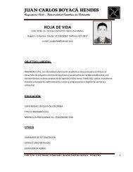 ING. JUAN CARLOS BOYACÁ HENDES - Taraira