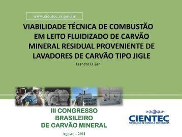 VIABILIDADE TÉCNICA DE COMBUSTÃO EM LEITO ... - Ufrgs
