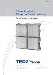Filtros Absolutos Filtros de Carvão Ativado Para Montagem - TROX