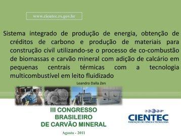 Sistema integrado de produção de energia, obtenção de ... - ufrgs