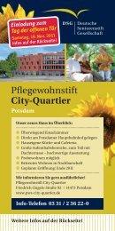 Pflegewohnstift City-Quartier - Deutsche Seniorenstift Gesellschaft