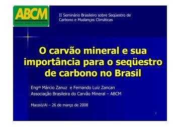 O carvão mineral e sua importância para o seqüestro de ... - ABCM
