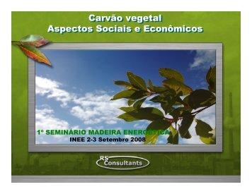 Carvão vegetal Aspectos Sociais e Econômicos Carvão ... - INEE