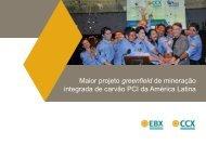 Maior projeto greenfield de mineração integrada de carvão ... - EBX