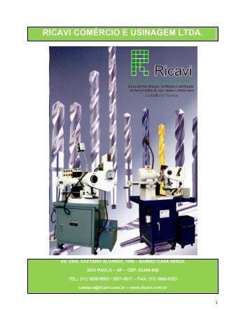 Catálogo 2009 - Ricavi Comércio e Usinagem Ltda