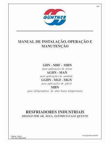 manual resfriadores industriais por 2012 - Refrigeração Industrial