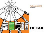 Rate card 2012 - DETAIL.de