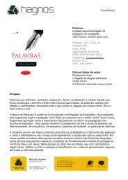 Press Release Palavras O poder da comunicação ... - Editora Hagnos