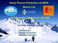 Heavy Flavour Production at HERA Benno List - Desy