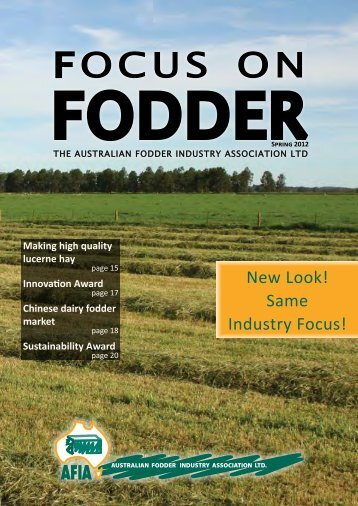 FOCUS ON - Australian Fodder Industry Association