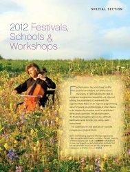 2012 Festivals, Schools & Workshops - Chamber Music America