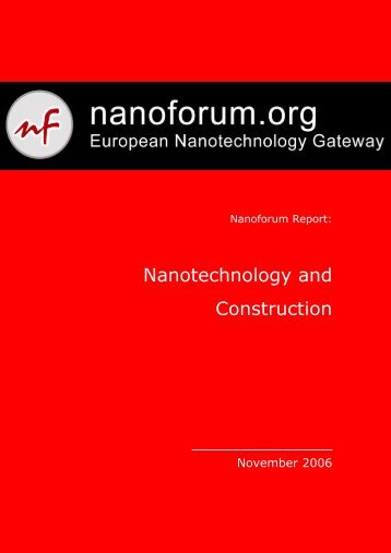 Nanotechnology and Construction - European Nanotechnology ...