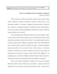 Frente e verso da política carioca - CPDOC - Fundação Getulio Vargas