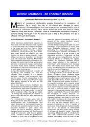 Actinic keratoses - an endemic disease - Dermaviduals