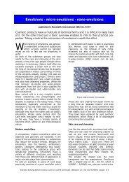 Emulsions - micro-emulsions - nano-emulsions - Dermaviduals