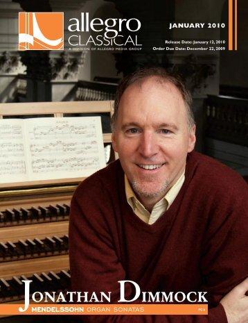 MENDELSSOHN: Organ Sonatas - Allegro Music