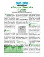 Afinal, o que é Cooperativa de Crédito? - Webfinder.com.br