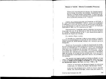 Parecer n° 02/96 - Vittorio Constantino Provenza - Governo do ...