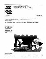 FORMAS DE GESTAO: O DESAFIO DA MUDANÇA - RAE Publicações