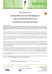 finden Sie die komplette Pressemeldung - bei der Deutschen Afrika ...