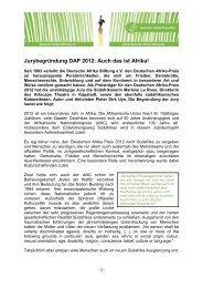 Marlene le Roux - bei der Deutschen Afrika Stiftung!
