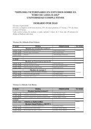 el programa completo - Plaza de Toros de Las Ventas