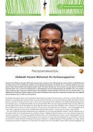 Abdikadir Hussein Mohamed - bei der Deutschen Afrika Stiftung!