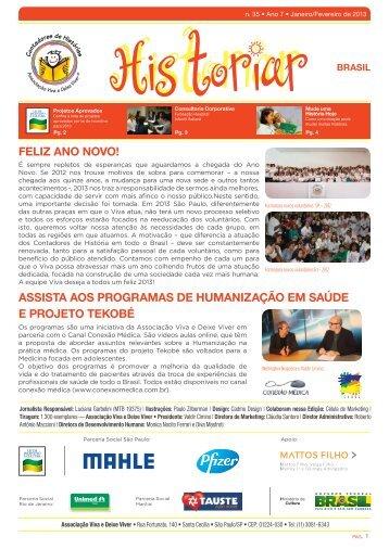 Janeiro/Fevereiro de 2013 - Associação Viva e Deixe Viver