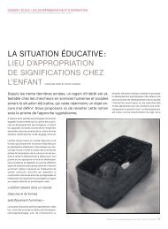 La situation éducative: lieu d'approbation de ... - HEP Vaud