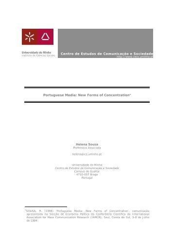 Centro de Estudos de Comunicação e Sociedade Portuguese Media