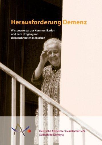 Sie können die Broschüre hier herunterladen. - Deutsche Alzheimer ...